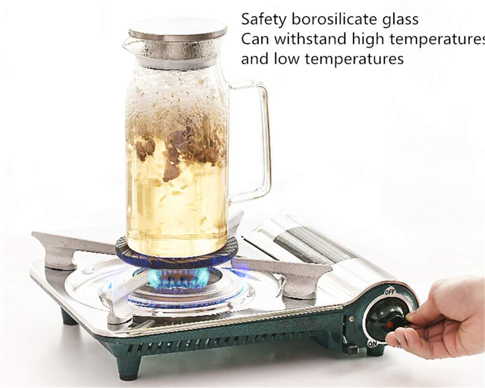 zcbgyks Jarra Agua Cristal Vidrio Resistente A Altas Temperaturas ...
