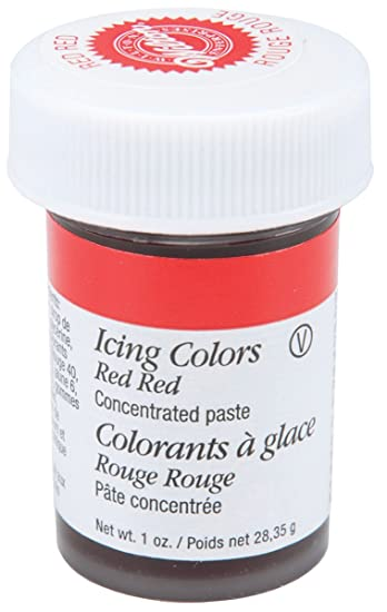 Amazon.com : Wilton 610-906 Icing Gel, 1-Ounce, Red-Red : Wilton Gel ...