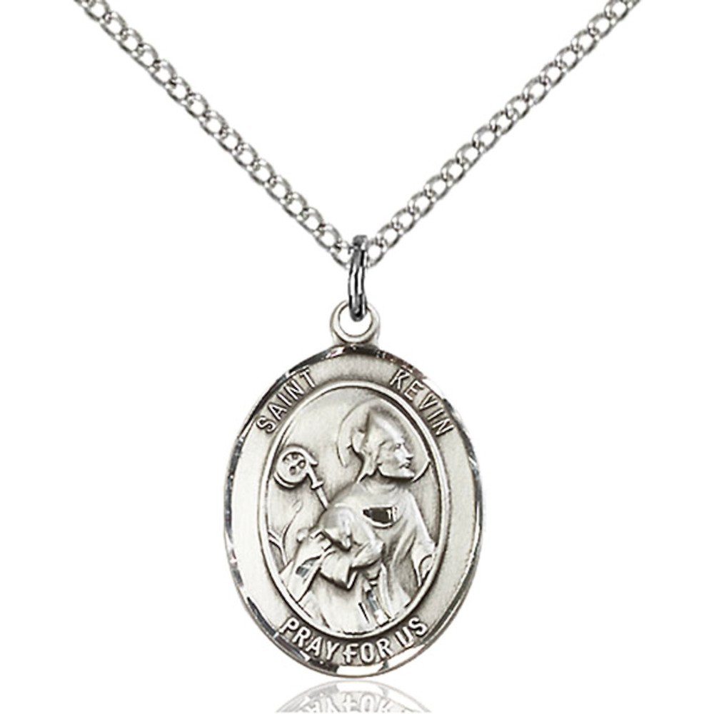 Kevin Hand-Crafted Oval Medal Pendant in Sterling Silver Bonyak Jewelry St