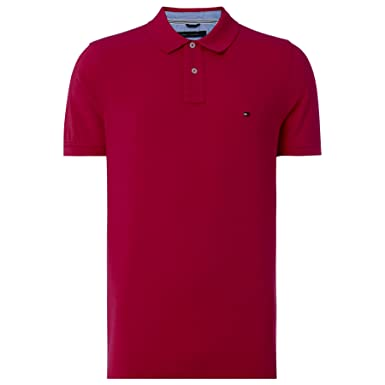 Tommy Hilfiger 50/2 Performance Polo S/S SF, Hombre, Rojo (Rio Red ...