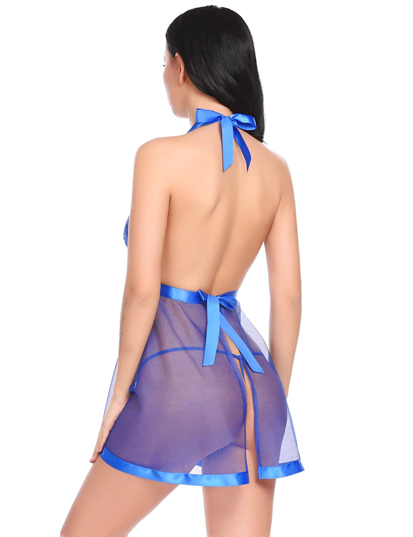 Avidlove Halter Lingerie Babydolls Lace Chemishs Nightwear for Women