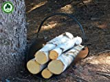 Birch Logs for Fireplace - Minnesota White Paper Birch Tree Logs w/ Sustainability Medallion for Environmentally Renewable Harvesting Practices