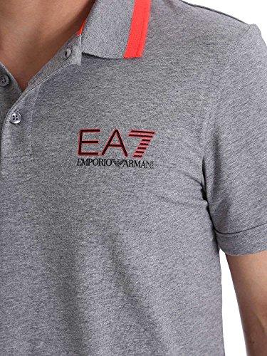 Armani EA7 Mann Grau Kurzarm Polo 3YPF87 PJ03Z - Taille vêtements - M