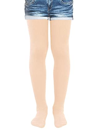 f37343f818c2a Kids Fashion Girls Ribbed Semi-Opaque Tights 40 Denier: Amazon.co.uk:  Clothing
