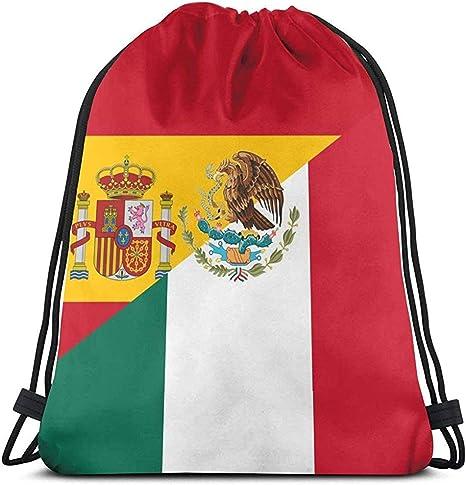 Bolso con cordón Unisex Bandera de España y México Mochila Gimnasio Deportivo Mochila Escolar: Amazon.es: Deportes y aire libre