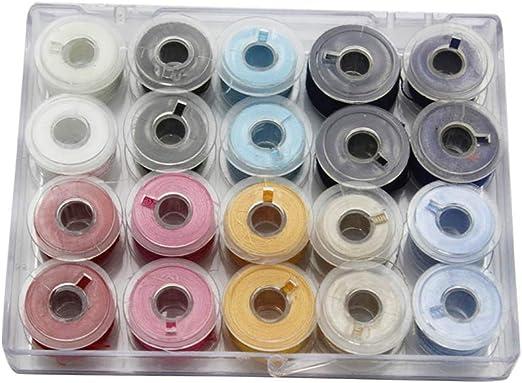 Hilos de Bordado de Hilo 50 Colores de Coser del Bordado Kit ...