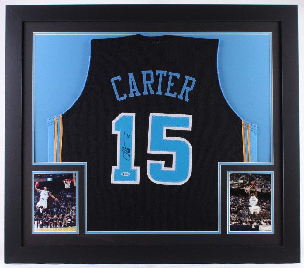 the best attitude 4712d eaa21 Vince Carter Autographed Signed North Carolina Tar Heels ...