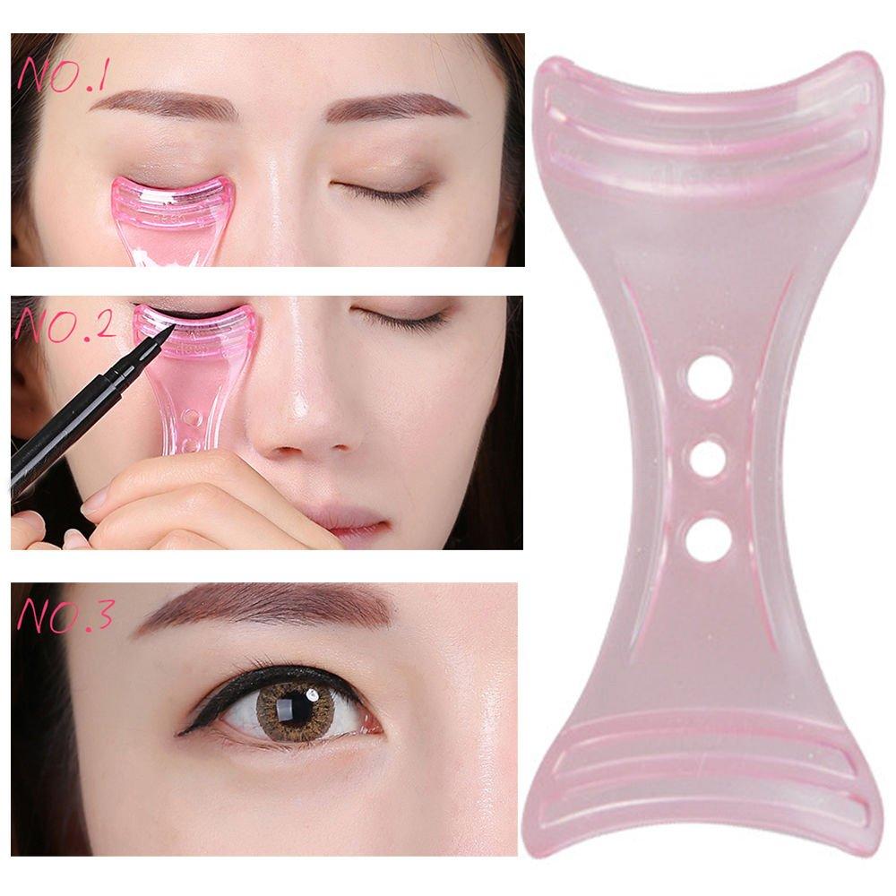 Eyeliner plantilla plantilla Shaper Eyeline maquillaje herramienta rosa: Amazon.es: Belleza