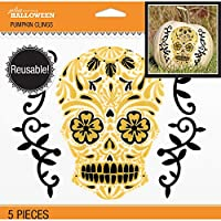 Jolee's Boutique 50-40563 Jolee's Day of the Dead Skull Pumpkin Clings 5/pkg