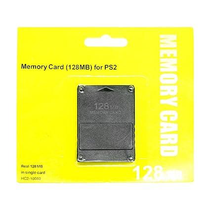 [Envio GRATIS] 128 MB de tarjeta de memoria para PlayStation 2 PS2 Negro // 128MB Memory Card For Playstation 2 PS2 Black