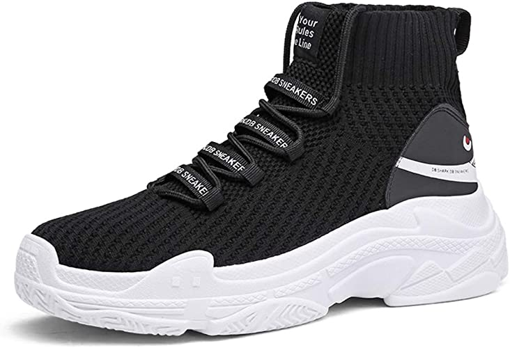 Men High Top Sock Shoes Thick Sole