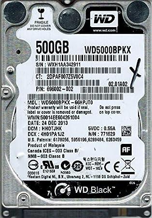 Amazon Com Western Digital Wd5000bpkx 66hpjt0 500gb Dcm Hhotjhk Computers Accessories
