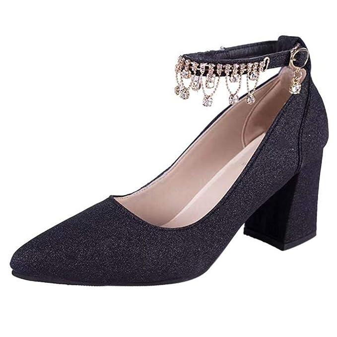 Covermason Zapatos Sandalias mujer planas negras, mujer de tacón alto Zapatos de tacón alto: Amazon.es: Ropa y accesorios