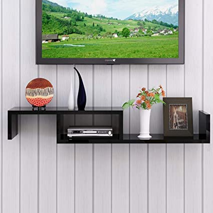 Gentil DSG Wall Shelf Floating Shelf Wall Mounted Tv Cabinet Set Top Box Router  Projector Game