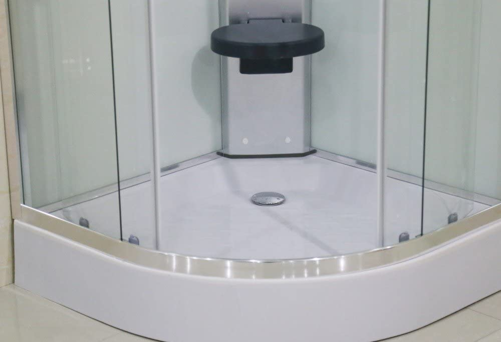 Web del Hidromasaje Cabina de Ducha Hidromasaje Completa 90x90 - Mampara de Ducha con Hidromasaje Modelo AR-001 - Forma semicircular esquinera Angular: Amazon.es: Hogar