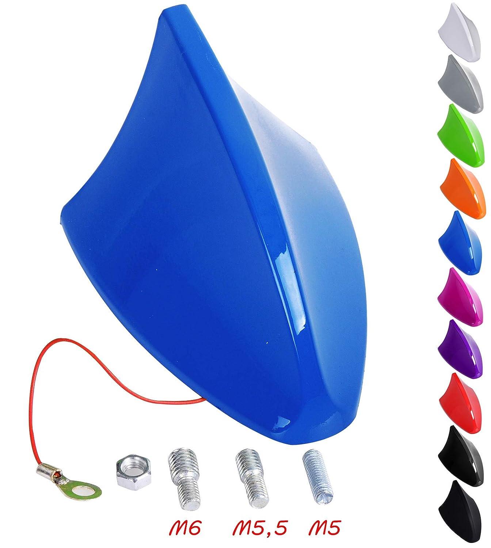 WOLTU #160 Universal Auto Shark Hai Antenne Dachantenne Haifisch AM & FM Hochglanz Farbwahl (Silber)