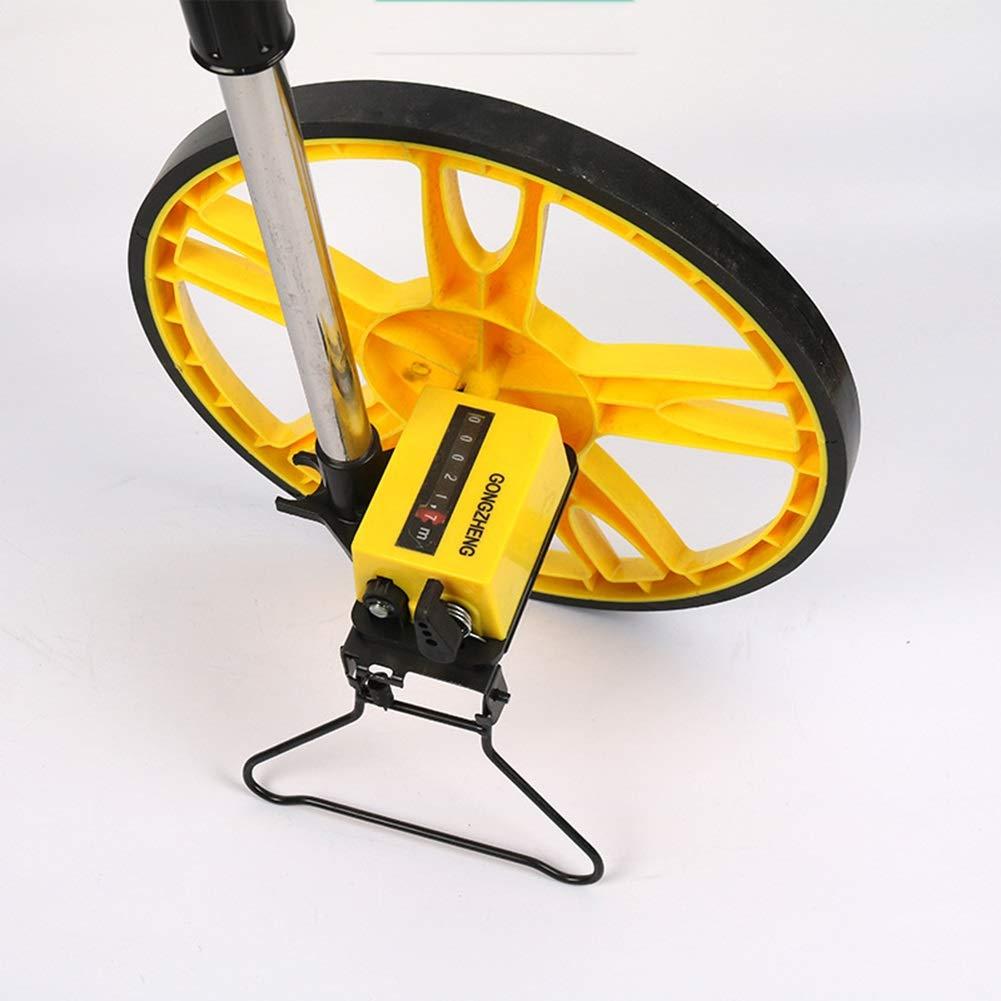 Faltbarer Entfernungsmesser Farbe : Blau Handmessrad QTDH Tragbares Messrad Mechanisches Rad Entfernungsmesser Messger/ät Messrad