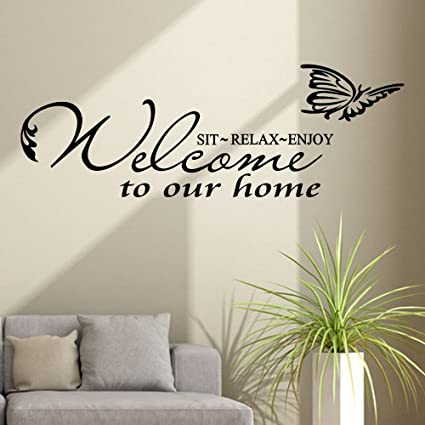 Wall Sticker, Welcome to Our Home Decal Quotes Stickers ...