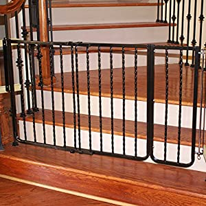 Cardinal Gates Extension for Wrought Iron Décor Pet Gate, 10.5-Inch, Black Click on image for further info.