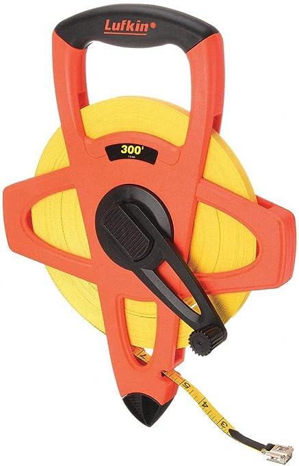 "300 ft Orange//Black LUFKIN FE300 Tape Measure 1//2/"" Blade"