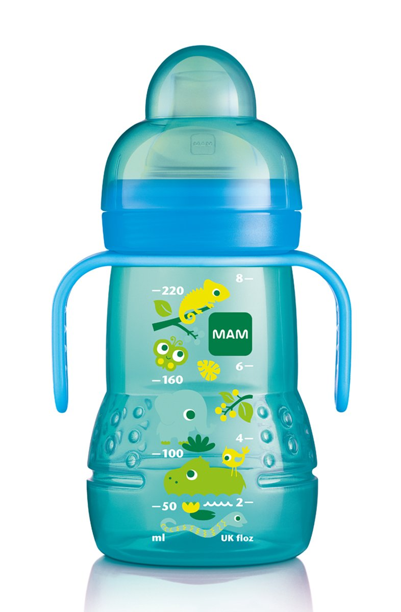 MAM Trainer Bottle with Handles, Boy, 4 Plus Months 8-Ounce, (For Boy) C5421-006-0-1