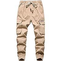 YoungSoul Pantalones para Niños - Pantalones Cargo con Cintura Elástica - Jogger Casual Niño
