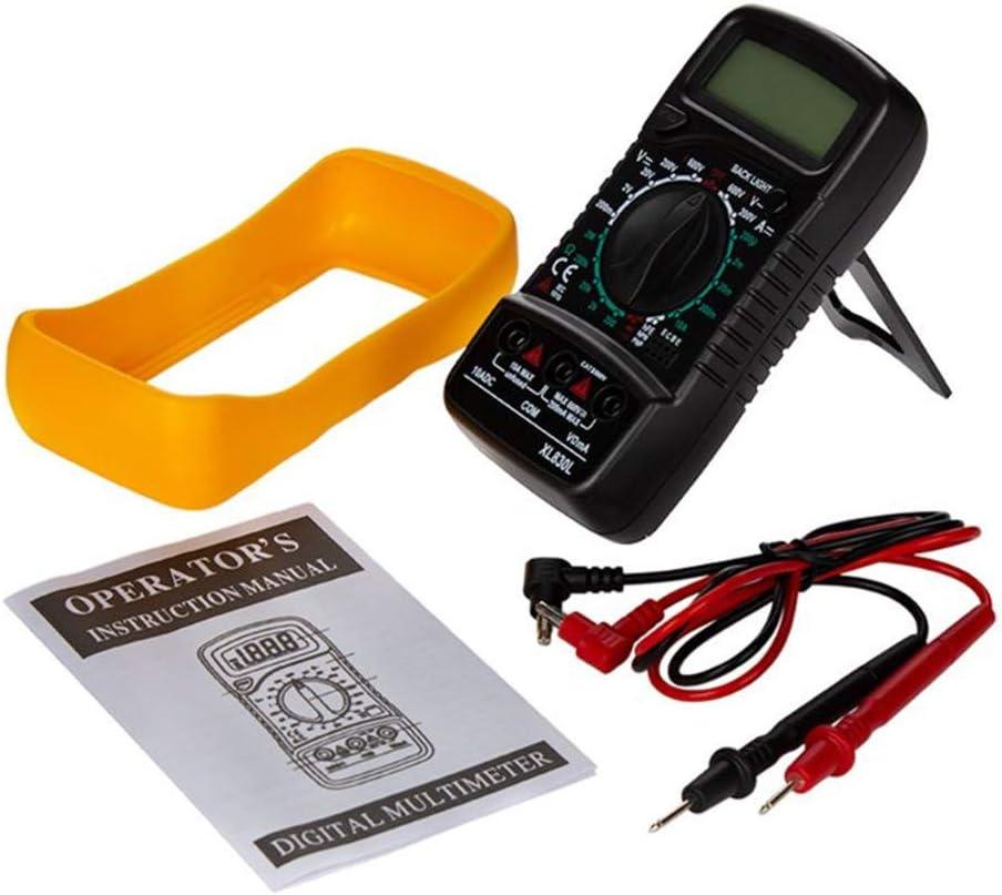 4EVERHOPE XL830L Portable Digital Multimeter Backlight AC//DC Ammeter Voltmeter Ohm Tester Handheld LCD Voltage Current Power Meter Test