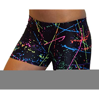 "GemGear Paint Splatter 2.5"" Inseam Compression Shorts"