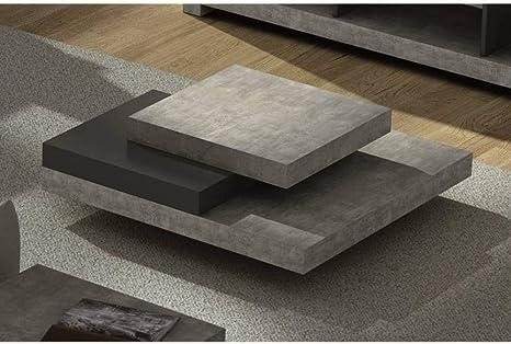 Temahome Slate Coffee Table In Concrete Amazon De Kuche Haushalt