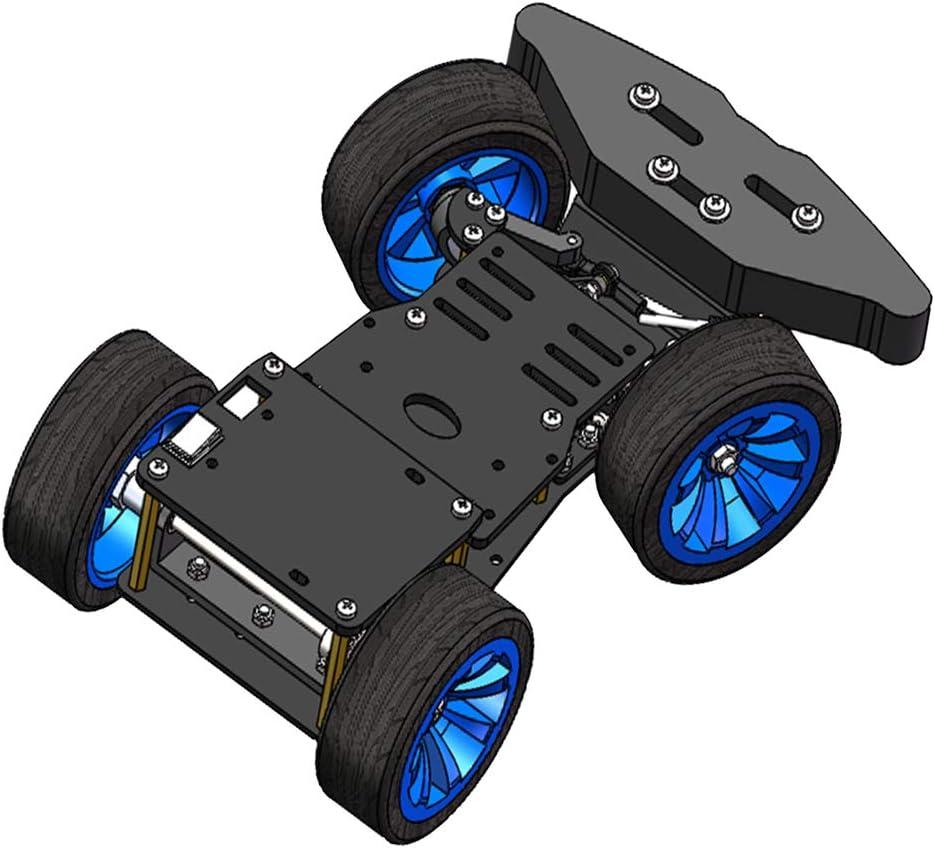 Milageto Plataforma De Chasis De Aleación De Coche Inteligente con Motor De Metal Juego De Control Trasero PS2
