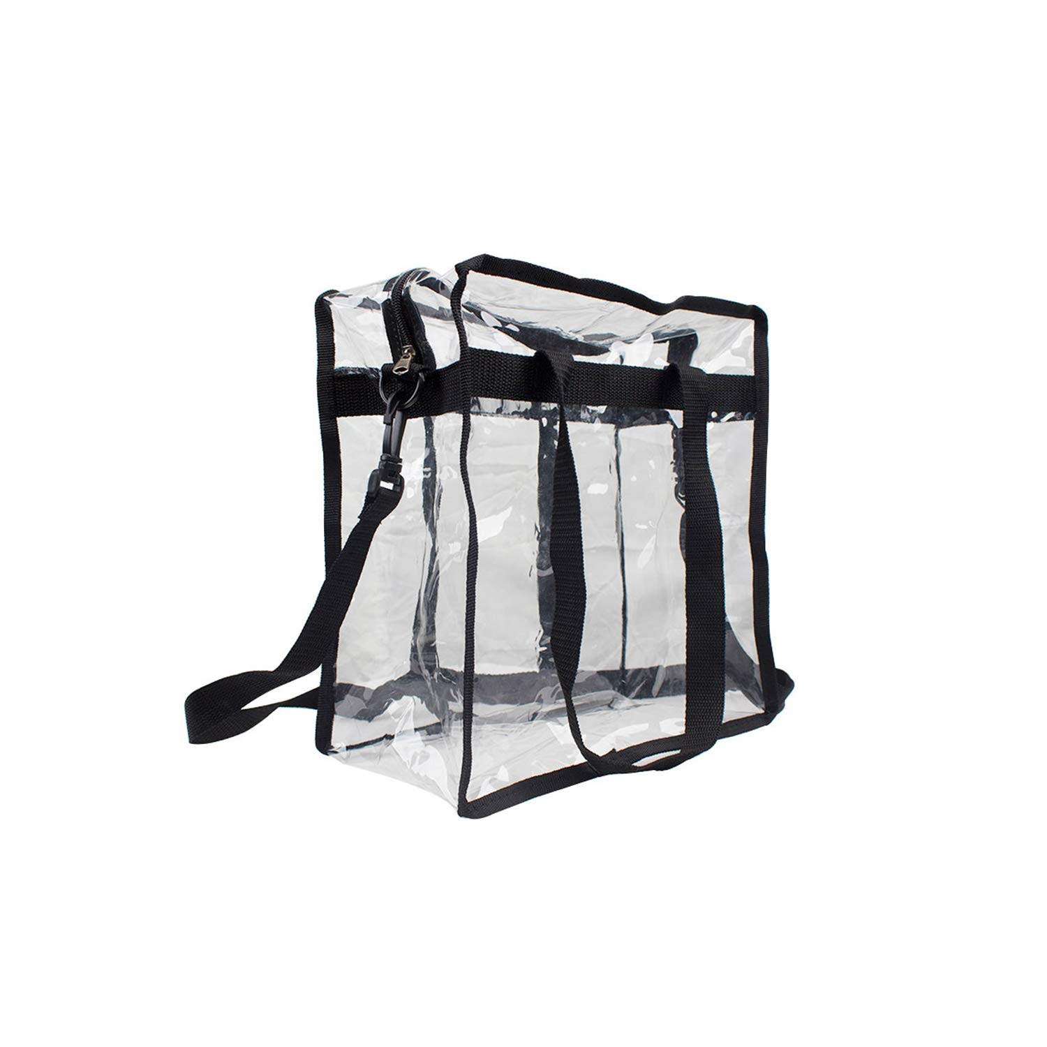"""Premium Clear Stadium Approved Bag - Clear Tote Bag with Cross Body Messenger Adjustable Shoulder Strap-12"""" X 12"""" X 6"""" by Zuess (Image #3)"""