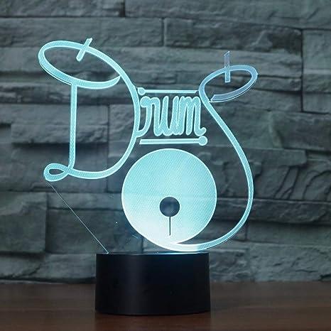 wangZJ 3D Led Night Light/Multicolor Rgb/Decoración de dormitorio ...