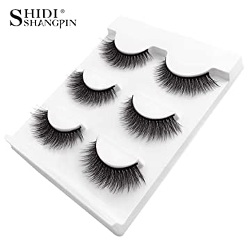 1aae3807c81 Amazon.com : 1 Box Mink Eyelashes Natural Long False Eyelashes Makeup Strip 3D  Mink Lashes Make Up Fake Eye Lashes Lash X11 : Beauty