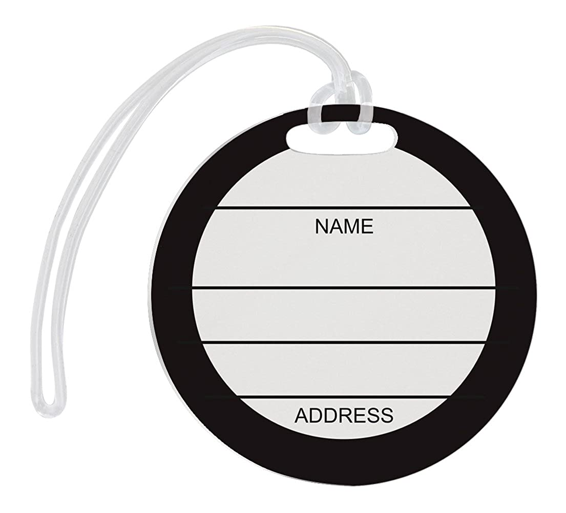 Sports Luggage Tags for Athletic Bags 2-Pack Aluminum Circle Luggage Tags