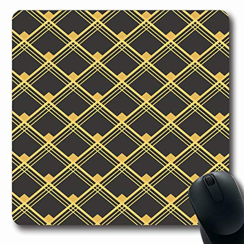Tobesonne Mousepads Revival Green Artdeco Abstract Classy Clip Digital Design Oblong Shape 7.9 x 9.5 Inches Non-Slip Gaming Mouse Pad Rubber Oblong Mat