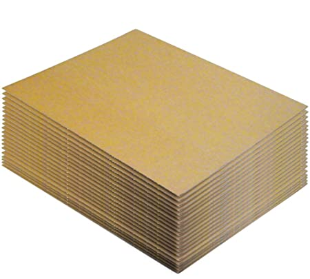 corrugated cardboard sheets x 20 sheets 762x1016mm x 3mm thick
