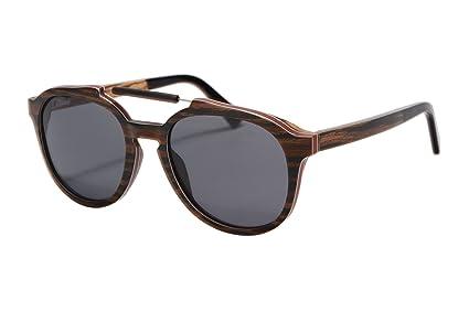 dcbec64fce6 SHINU Wood Sunglasses Polarized Sunglasses Wood Aluminum Frame Wooden  Temple Eyewear for Sun Protection-73015  Amazon.co.uk  Clothing