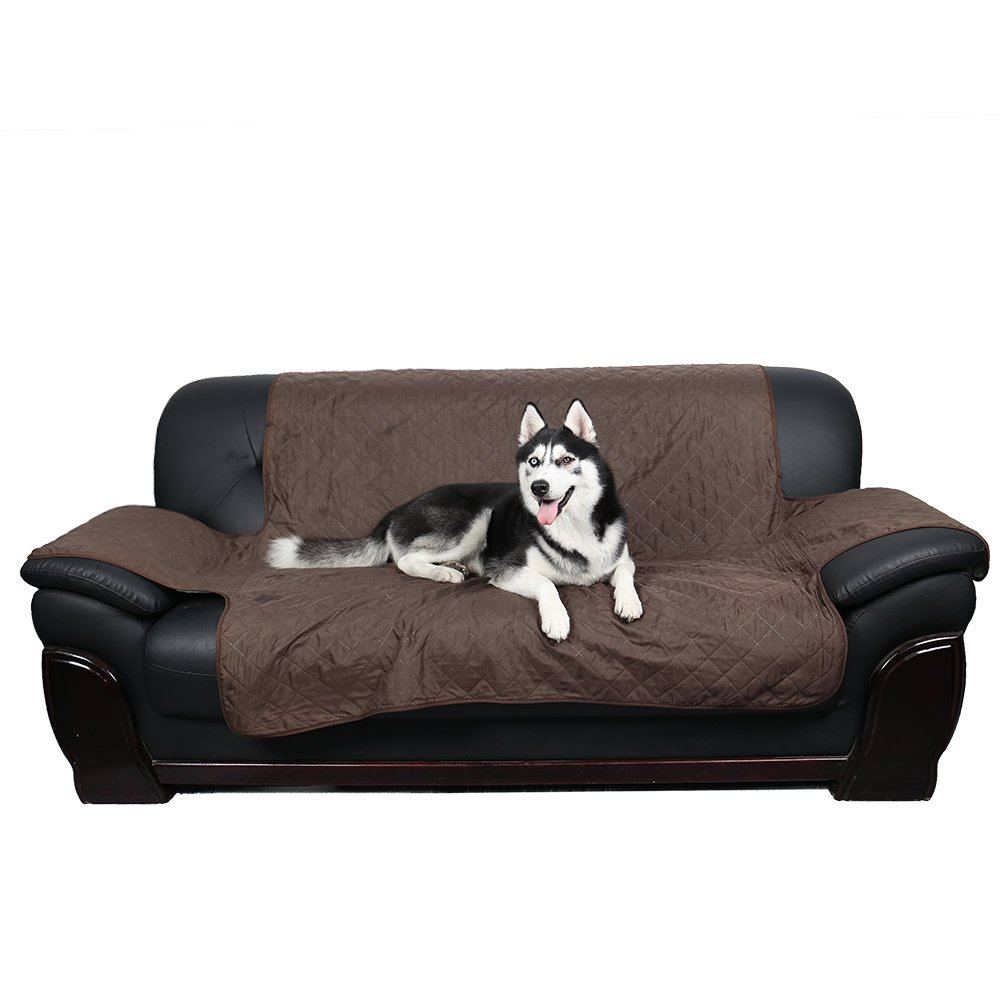 Ohana Waterproof Pet Sofa Cover, Reversible 1 Seater Sofa Chair Protector Couch Slipcover Dog Slip Cover Cat Waterproof Furniture Protector Cover Coffee by Ohana (Image #7)