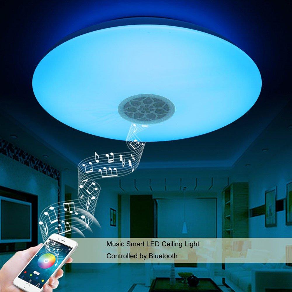 Autai LED Deckenleuchte mit Bluetooth Lautsprecher: Amazon.de ...