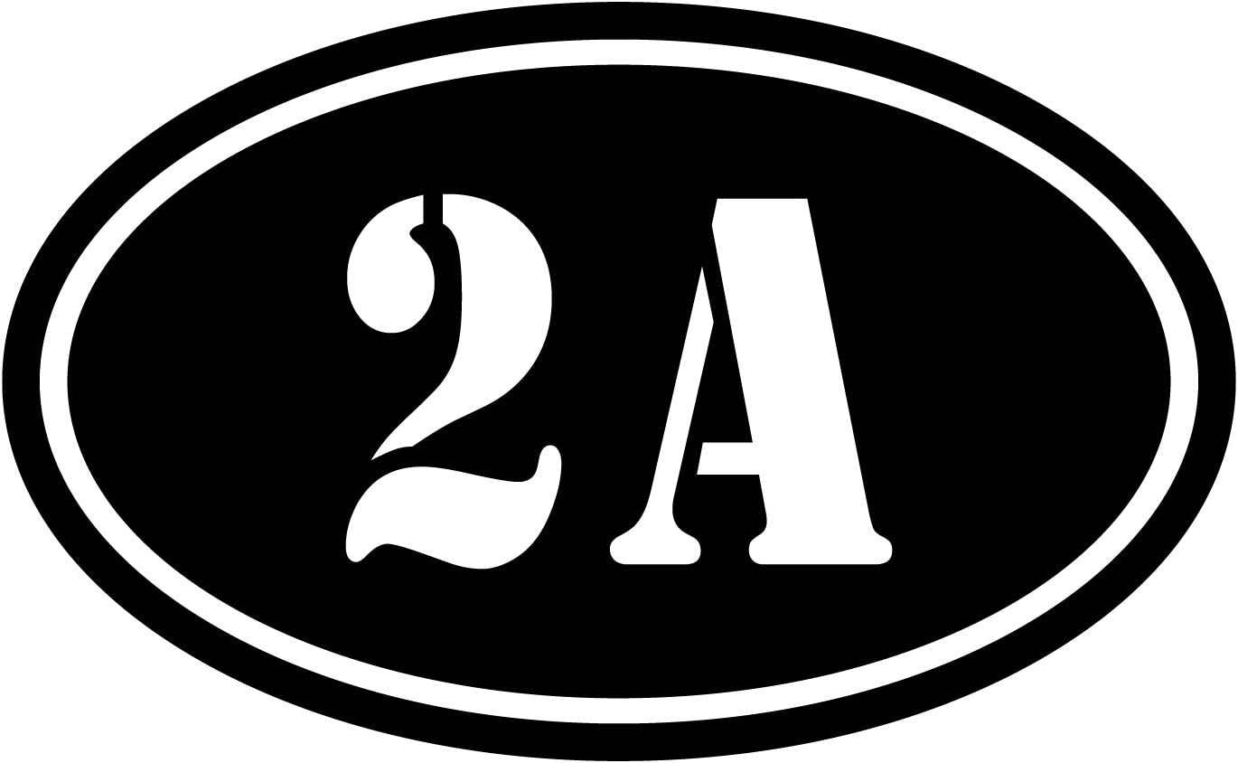 More Shiz 2A 2nd Amendment Vinyl Decal Sticker Car Truck Van SUV Window Wall Cup Laptop - One 5.5 Inch Black Decal- MKS0675B