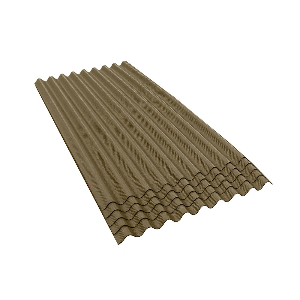 ONDURA 909 Corrugated Asphalt Roofing (5-Pack), Tan