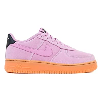9887279858 Nike Air Force 1 LV8 AR0735-600 Textile Youth Trainers - Artick Pink - 38.5