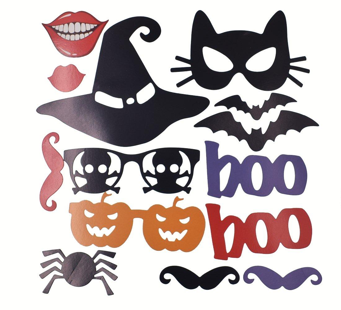 Amazoncom Raylinedo 14pcs Diy Halloween Party Card Masks Photo