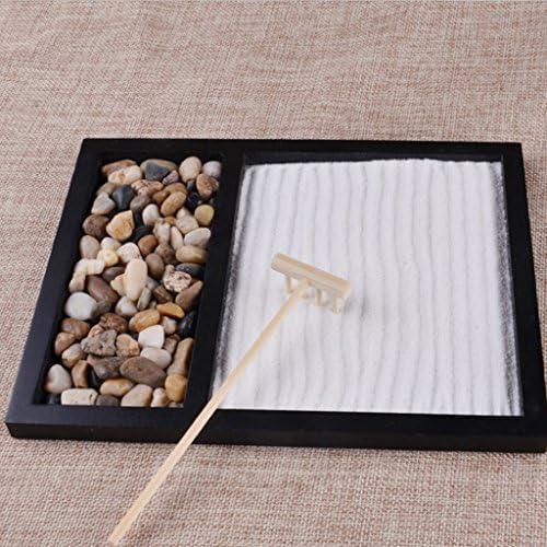 Mini Rastrillo de Madera/Decoración en Miniatura de Bambú para Jardín Zen Japonés - 3#21.5x17x1CM: Amazon.es: Hogar