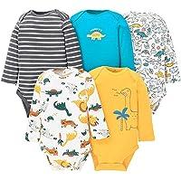 Paquete de 5 Bebé Body De Manga Larga Niños Mameluco Camisetas Paquete de Pijama Niñas Mono de Algodón 3-6 Meses