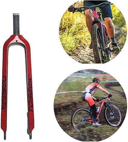 Fahrradgabel 26 27,5 Zoll Mountainbike 3K Kohlefaser Gabel Ultraleichte Scheibenbremse 1-1//8