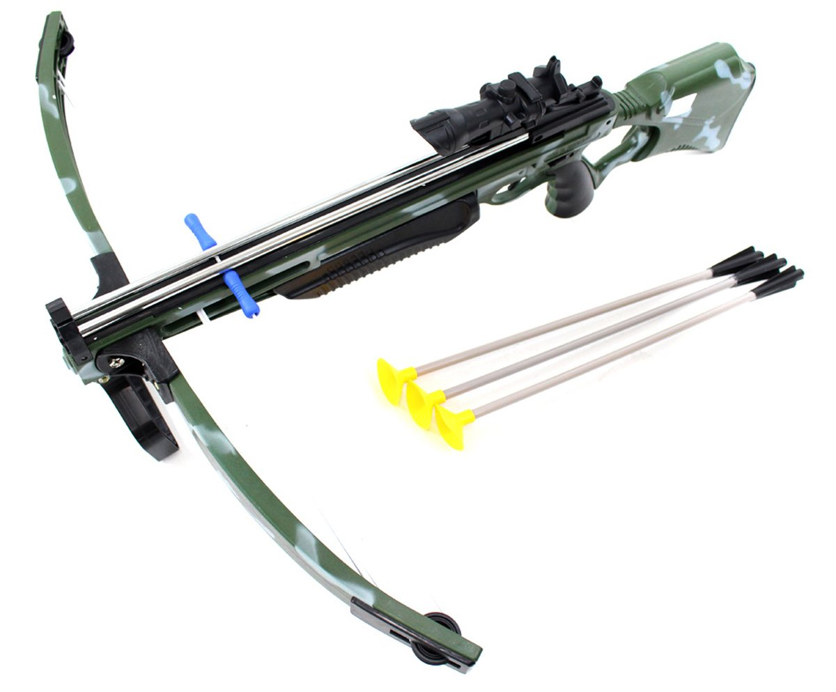 PowerTRC Deluxe Action Military Crossbow Set with Scope 30''