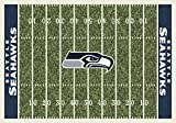 Seattle Seahawks NFL Team Home Field Area Rug by Milliken, 7'8'' x 10'9'', Multicolored