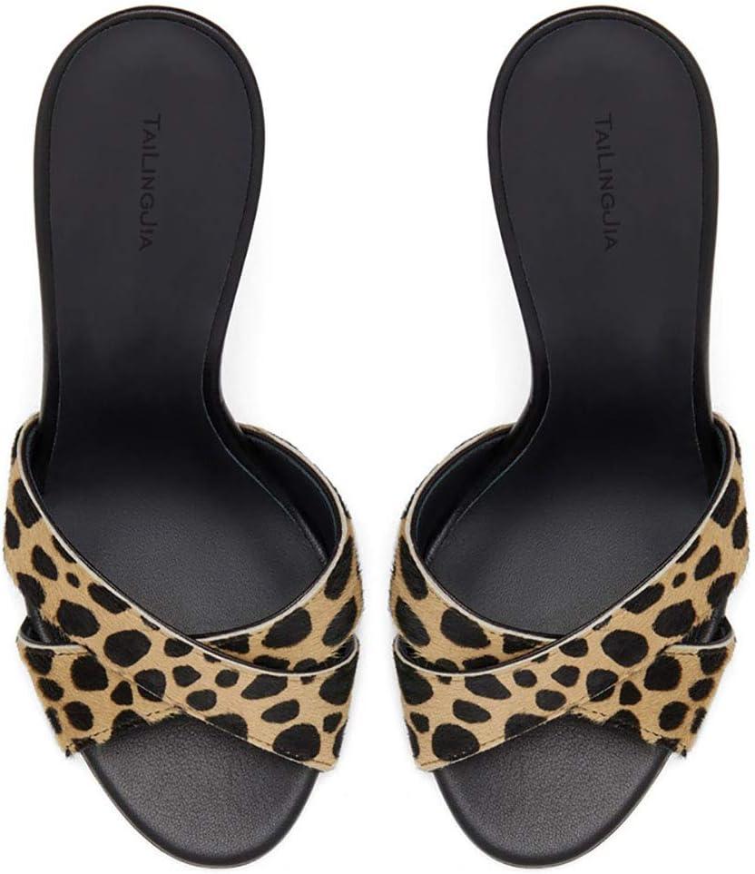 Moda Mules Sandali Donna Stiletto Slip-on Elegante Tacco Stiletto Burst
