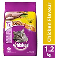 Whiskas Adult Dry Cat Food, Chicken flavour – 1.2 kg Pack
